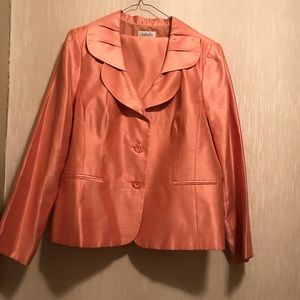 ISABELLA Peach Skirt Suit